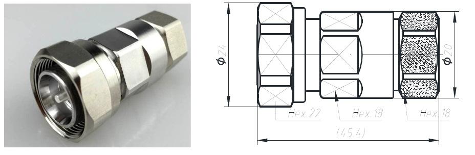 Đầu nối Connector 4310-1/2H (Dùng cho anten 4G)