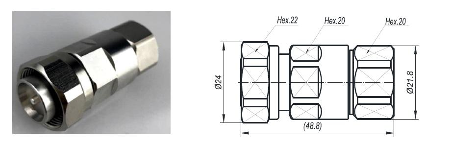 Đầu nối Connector 4310-1/2L (Dùng cho anten 4G)