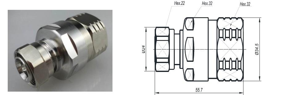 Connector 4310-7/8(Dùng cho anten 4G)