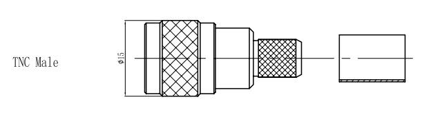 Đầu nối connector TNC đực cho cáp đồng trục 5D-FB